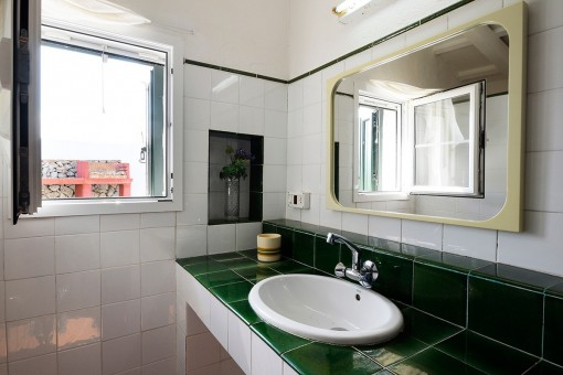 Detailed view of the bathroom