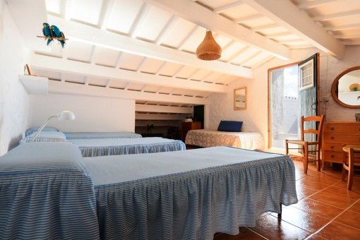 Bedroom on the upper floor with access to terrace