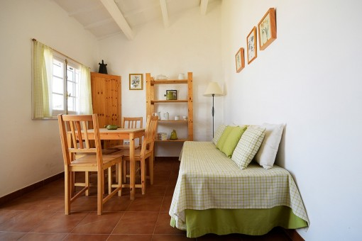 Living and dining area of the guest house