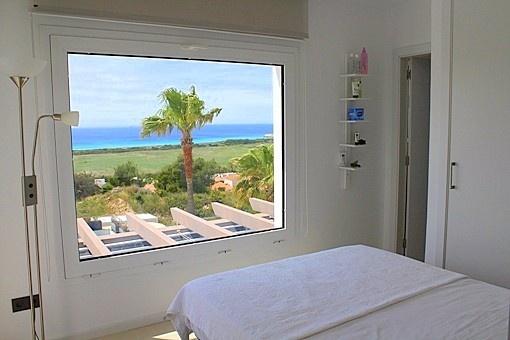 En-suite bedroom with sea views
