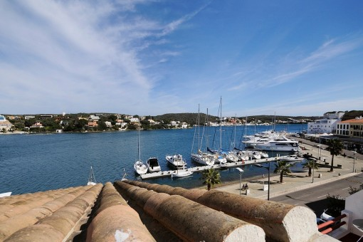 From the roof terrace you have an enchanting view to the harbour