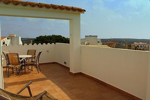 Private roof terrace overlooking Mahon