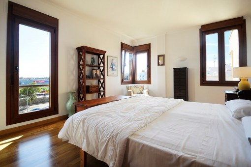 Large bedroom with fantastic views