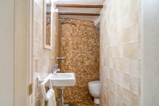 Goregous bathroom with mosaic wall
