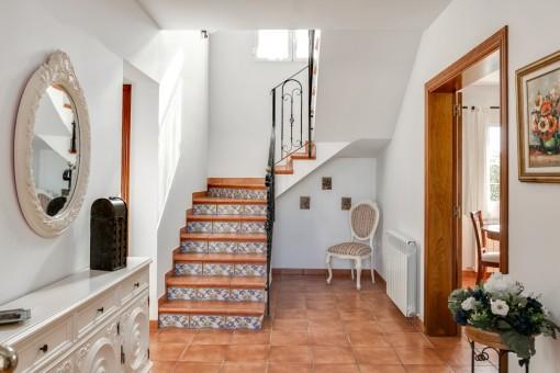 Inviting hallway on the ground floor