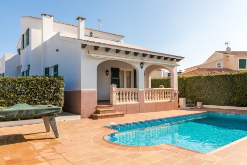 Lovely pool area with terrace