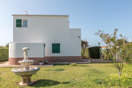 The villa stands on a 650 sqm plot
