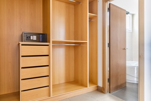 Large built-in wardrobe