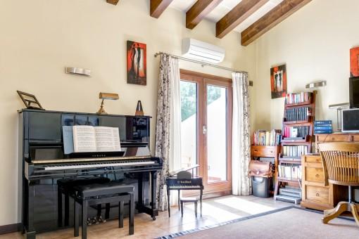 Office and music room