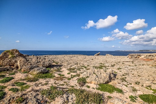 Rocks with sea views