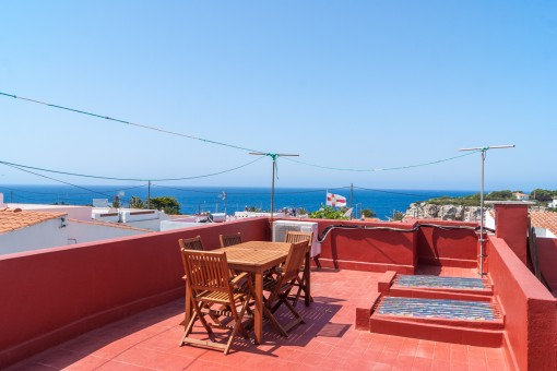 Sunny roof terrace with wonderful sea views