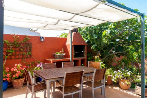 Mediterranean terrace with barbecue area