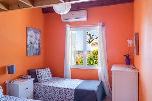 Bedroom with partial sea views
