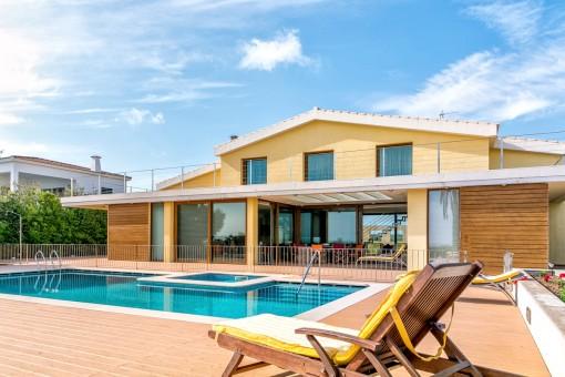 Inviting pool area of the villa