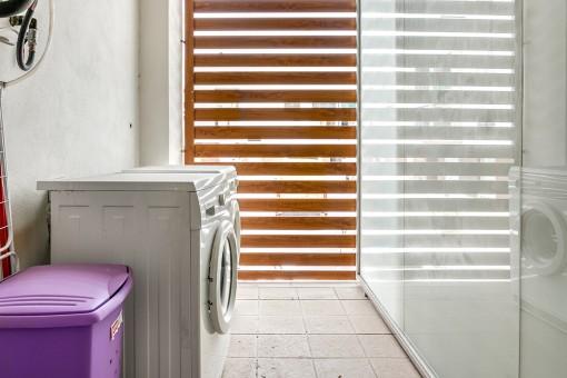 Storage or wasching room