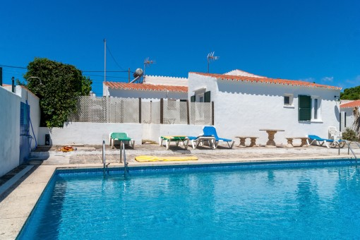 Sunny communal pool