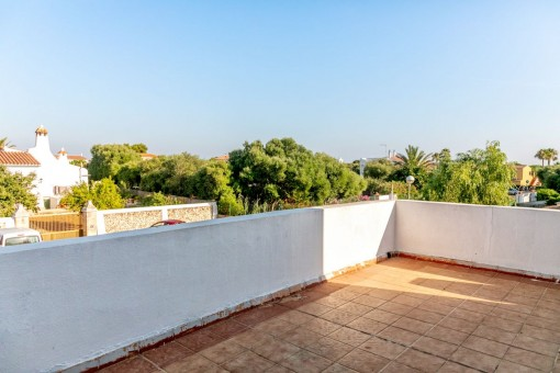 Spacious rooftop terrace with stunning views