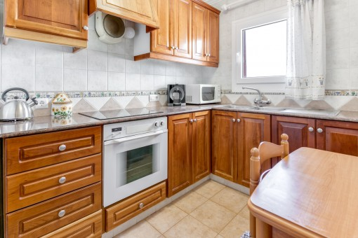 Bright kitchen made of wood