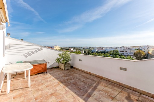 Terrace with views to Ciutadella