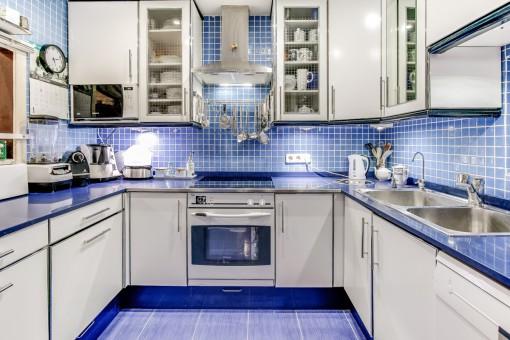 Modern kitchen in blue