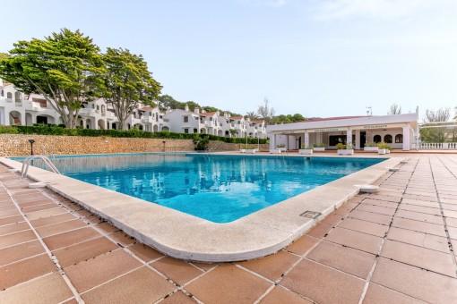 Spacious, communal pool area
