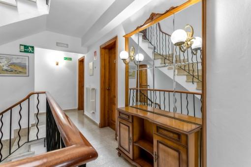 Staircase and corridor