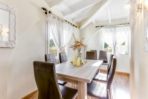 Bright dining area