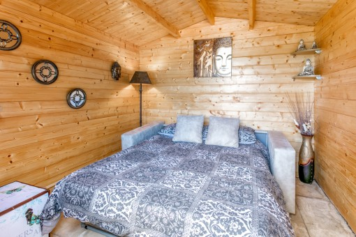 Bedroom in the separate cottage