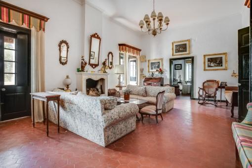 Unique interior of the living area