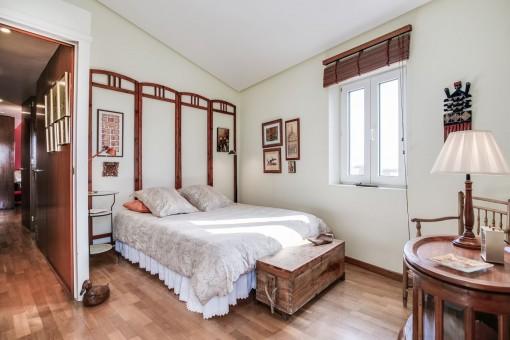 Light-flooded bedroom