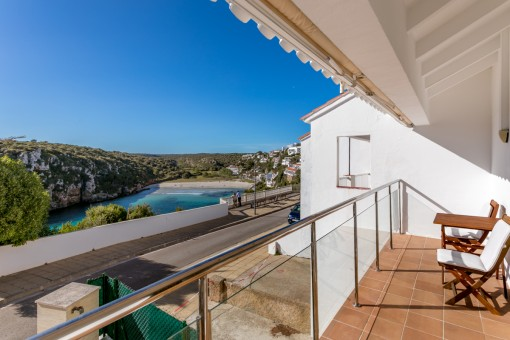Balcony with views to the bay