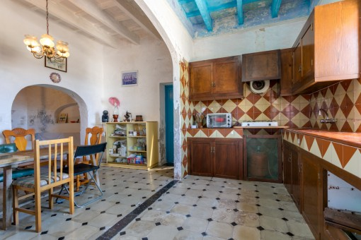 Rustic kitchen of the finca