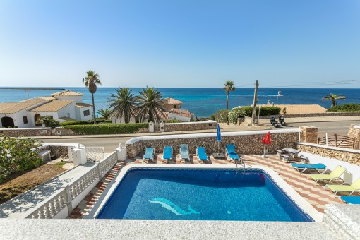 Wonderful villa with pool on the 2nd sea line in Son Ganxo near to Punta Prima