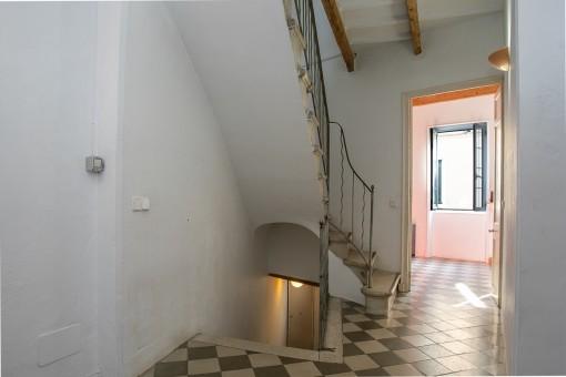 Corridor and staircase