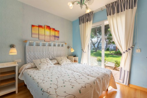 Double bedroom with further terrace