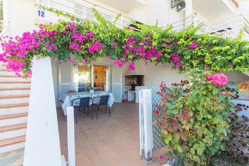 Beautiful terrace with bbq area
