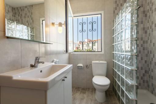 Light flooded bathroom