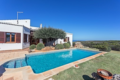 Wonderful, luxurious property with pool and sea views surrounded by a nature conservation area in Cala Morell