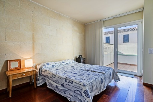 Bedroom with further terrace