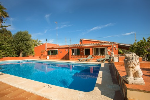 Idyllic country house in S'Algar with pool and touristic rental licence