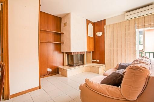 Cozy fireplace corner