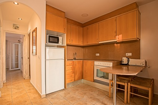 Small kitchen with table