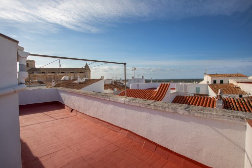 Roof terrace with sweeping views